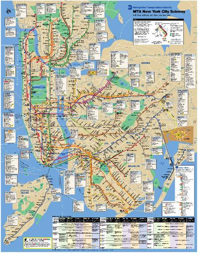 Subway Map 2009.Desingosaur Ben Popper Culture Technology